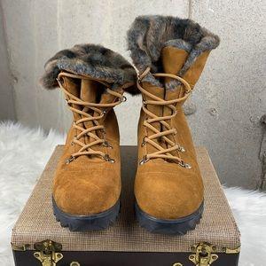 Cougar Women's Waterproof Boots Fur Trim Sz11